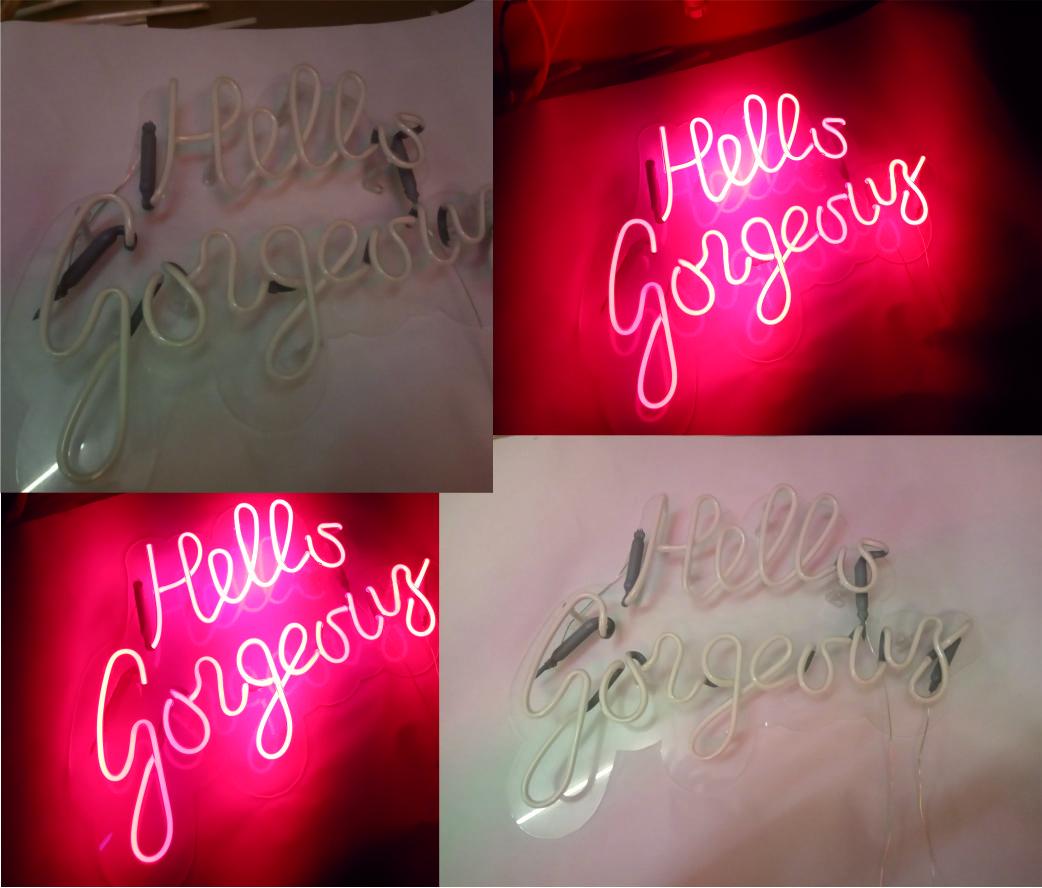 hello gorgeous neon licht
