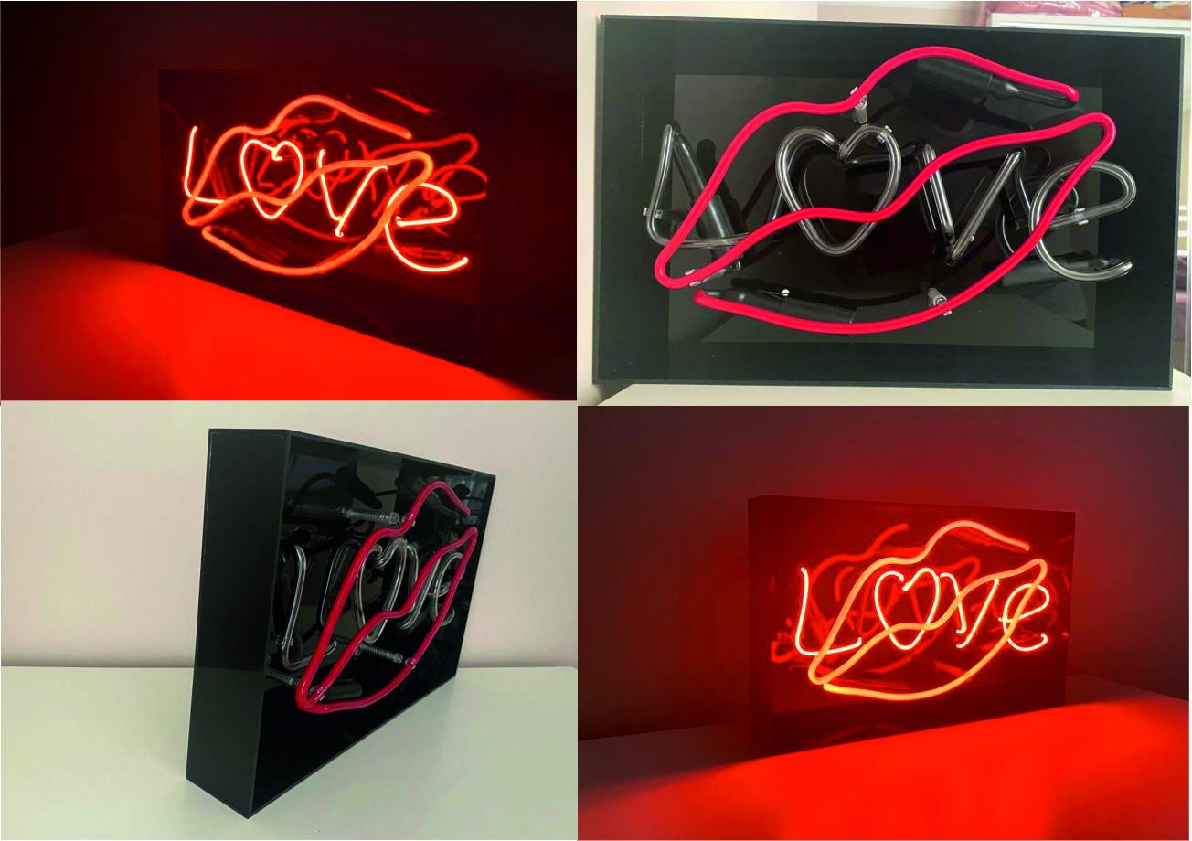 love ve dudak neon hediyelik