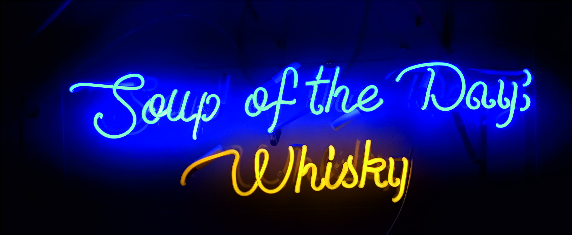 soup of the day whisky neon