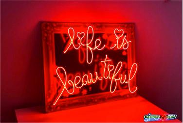 süper bir life is beautiful neon yazı