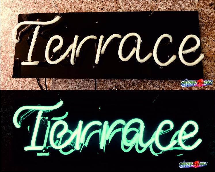 Cam Neon Terrace Yazısı