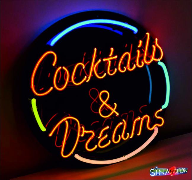 Coctails & Dreams Neon Sign