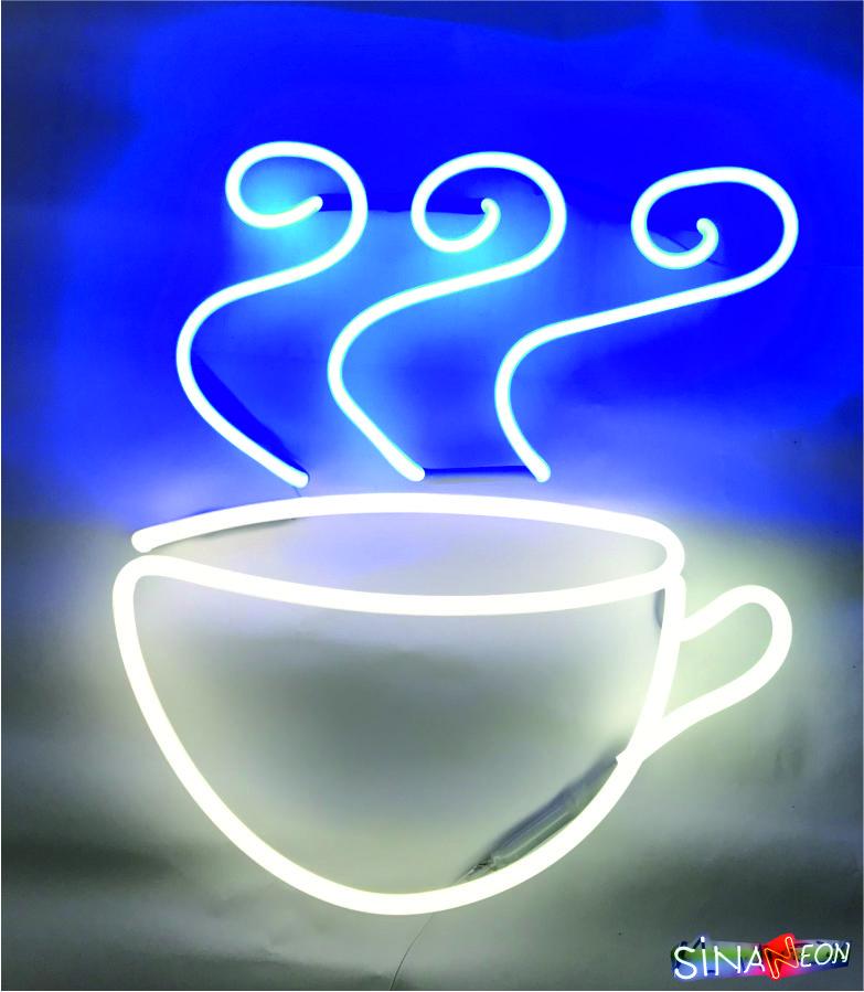 Dekor Kahve Fincanı Neon