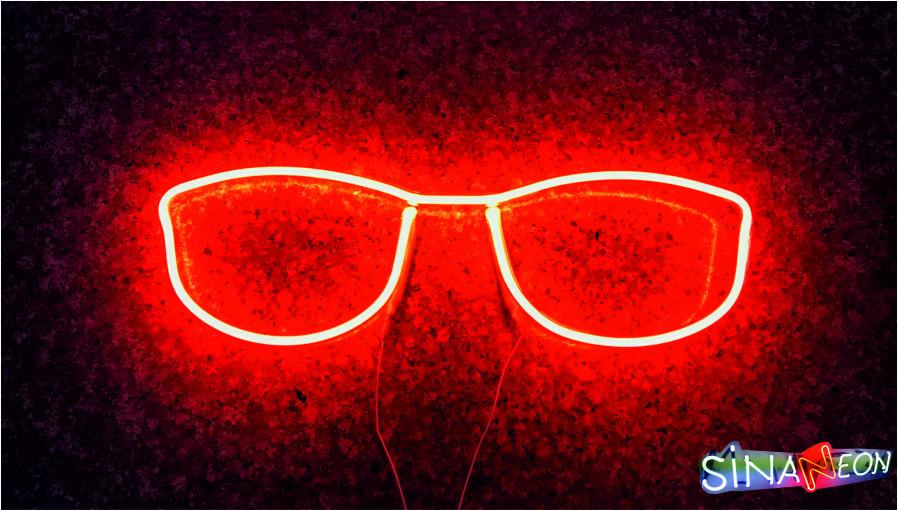Gözlük Neon Tabela