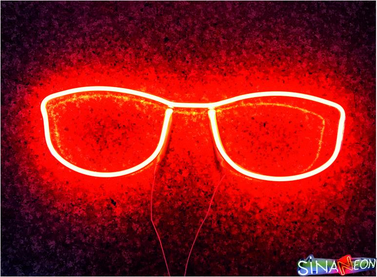 Gözlük Şekli Neon Tabela
