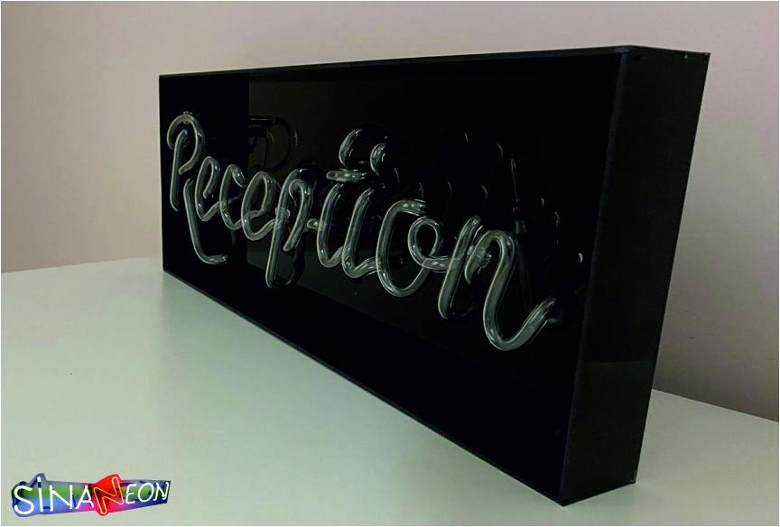 ReReception ışıklı yazı tabelası