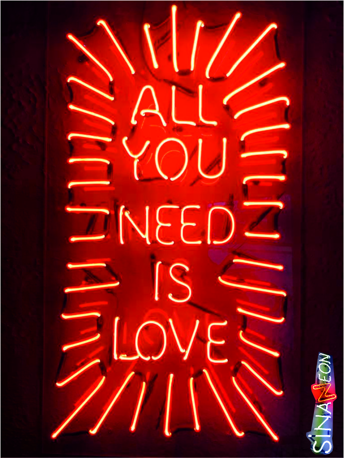 all you need is love cam neon