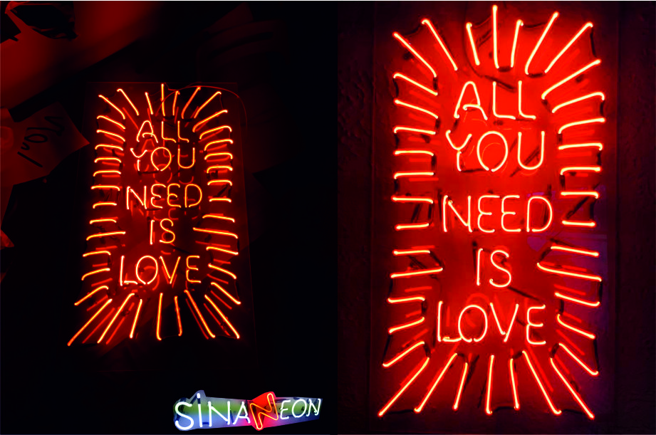 all you need is love neon sign, all you need is love neon görseli
