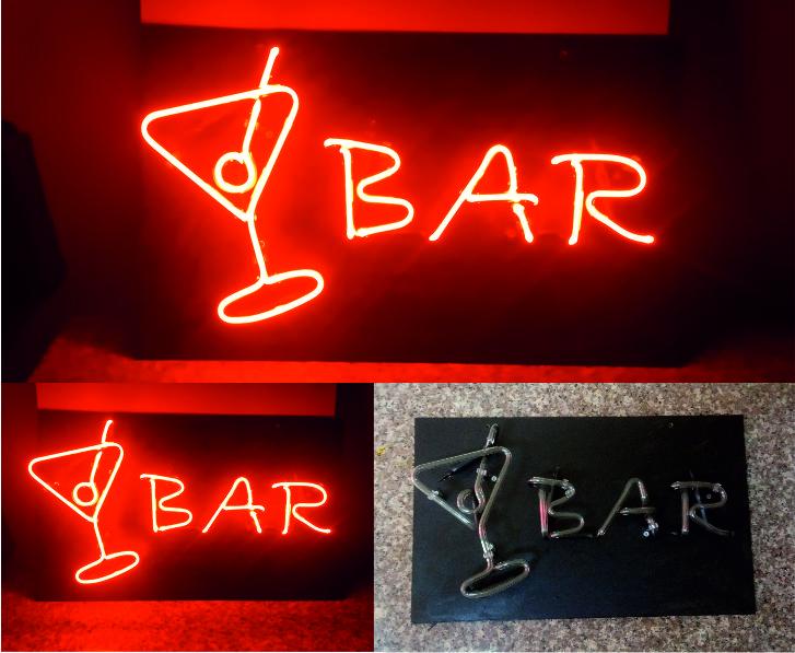 bar tabelası neon