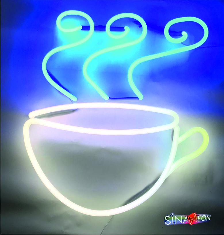 cafe fincan neon tabela