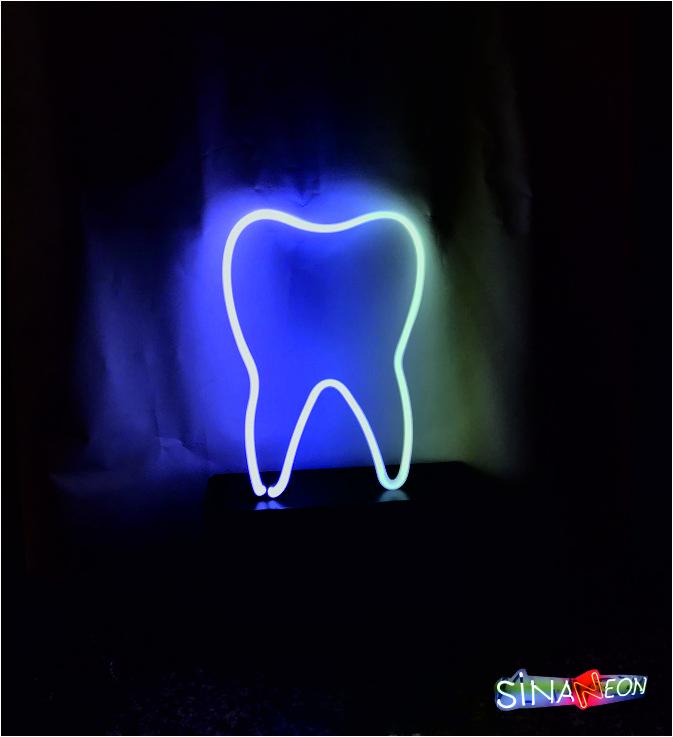 diş neon görseli