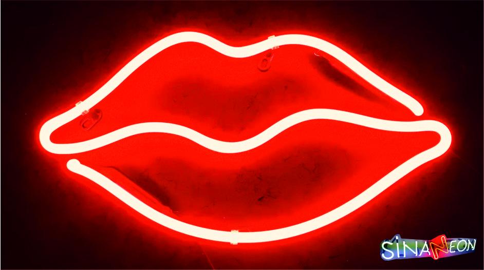 dudak neon sign
