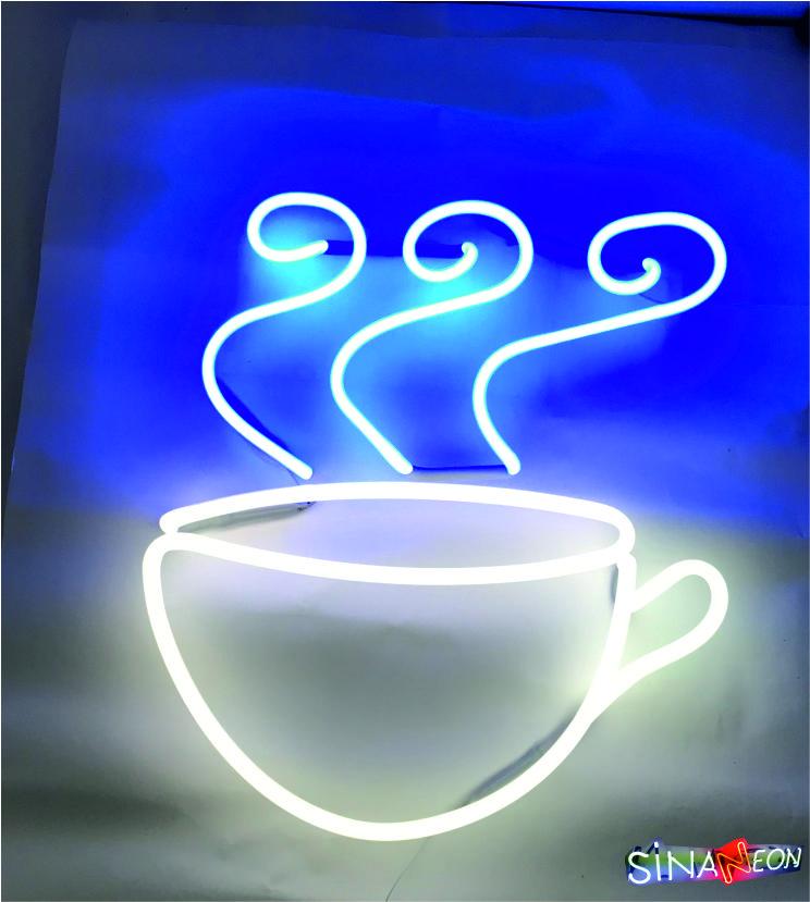 kahve neon fincanı tabela