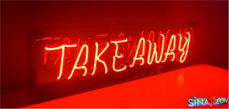 takeaway neon tabela