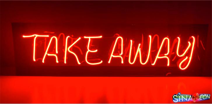 tekeaway neon sign