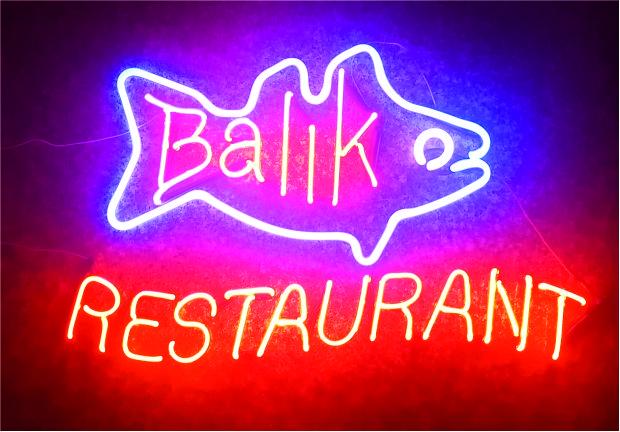 balık restaurant tabelası