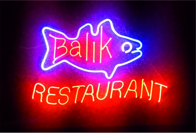 restaurant neon tabelası