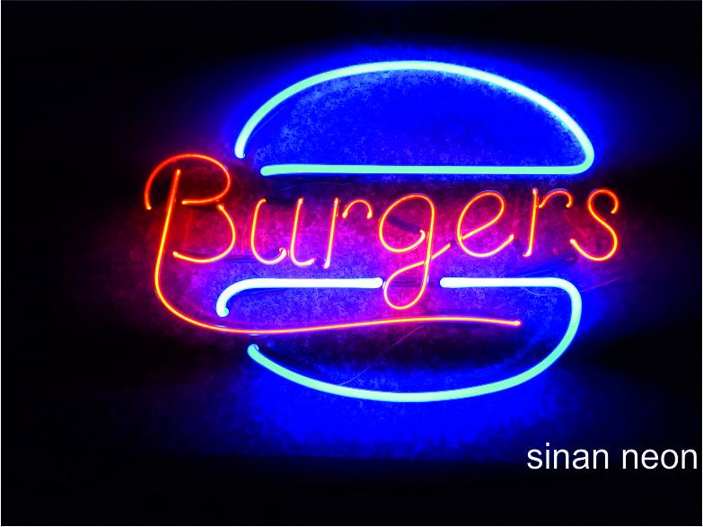 Burger neon tabela
