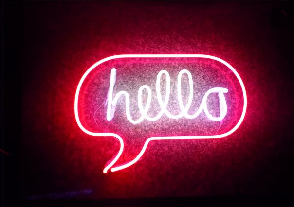 hello neon yazı imalatı